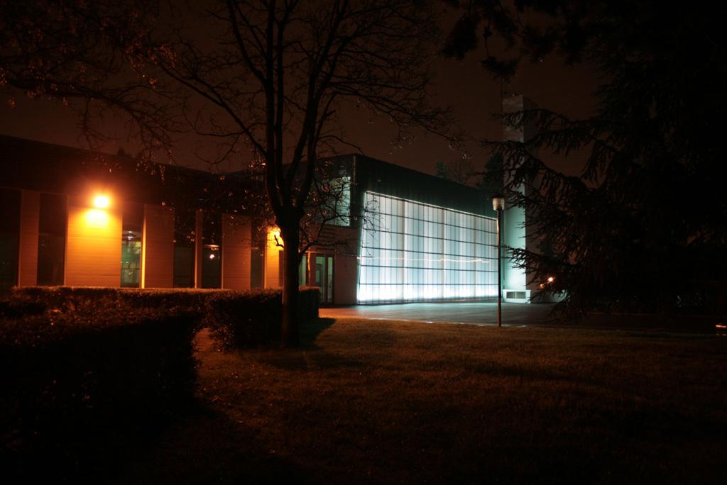 Vue de nuit Terrasses du Mail à Cuffies