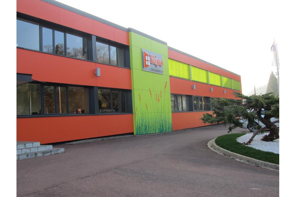 vue parking BIPA usine unité de production