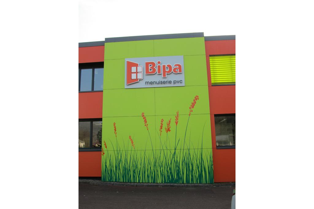 Enseigne BIPA usine unité de production