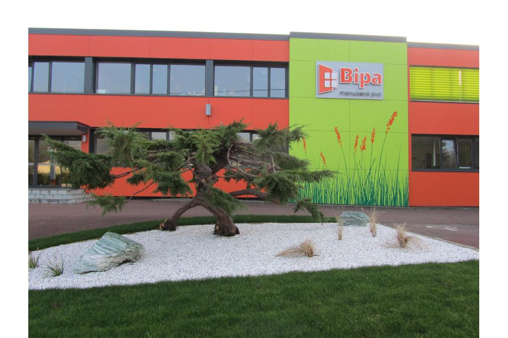 enseigne et jardin japonais BIPA usine unité de production