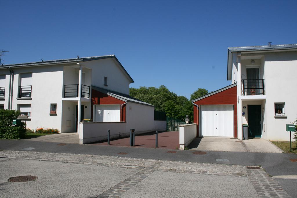 vue de face 10 logements individuels locatifs à Soissons