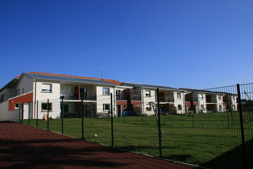 vue des jardin logements individuels locatifs à Soissons