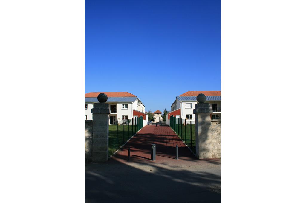 Entrée piétonne 10 logements individuels locatifs à Soissons