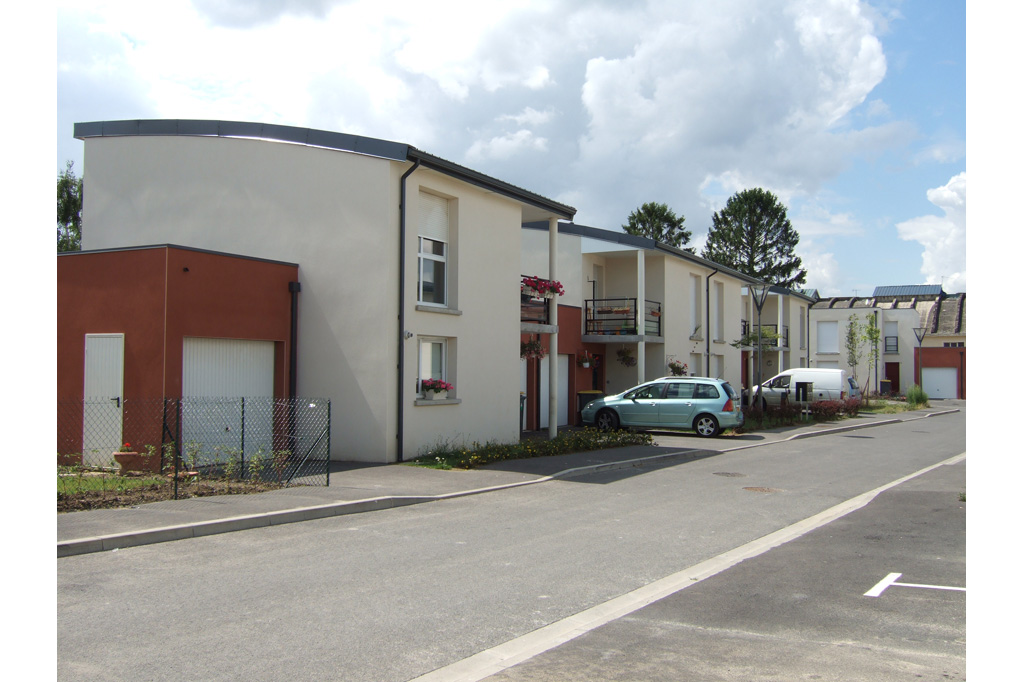 entrée logements locatifs sociaux avenue de Reims à Soissons