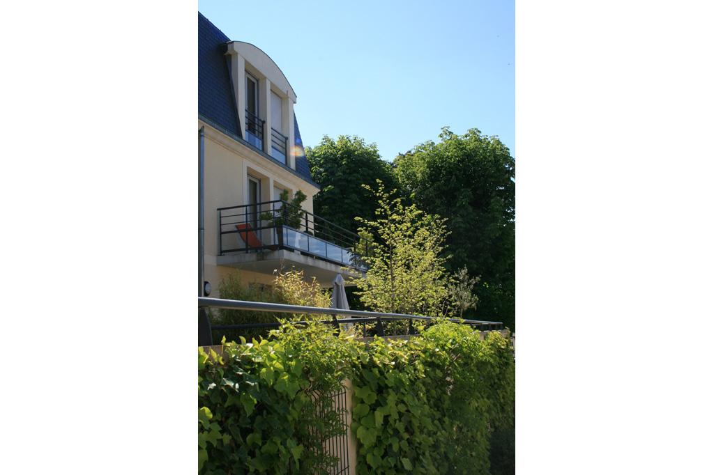 détails terrasse logements collectifs à Soissons